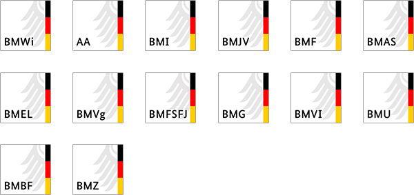 Bookmark-Icons der Ministerien